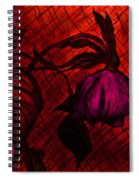 The Wilted Pink Rose Spiral Notebook