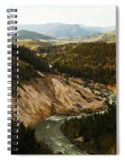 The Winding Yellowstone Spiral Notebook