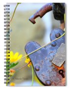 The Wise Owl Padlock - Cambria California  Spiral Notebook