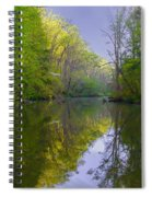 The Wissahickon Creek In The Morning Spiral Notebook