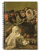 The Witches Sabbath Or The Great He-goat, One Of The Black Paintings, C.1821-23 Oil On Canvas Spiral Notebook