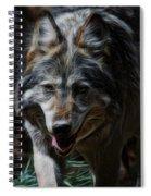 The Wolf Digital Art Spiral Notebook