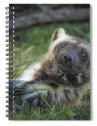 The Wolverine Skunk Bear Happy Face Spiral Notebook