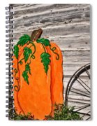 The Wooden Pumpkin Spiral Notebook