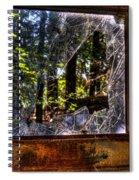 The Woods Through A School Bus Window Spiral Notebook