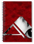 The Word Is Cat Bw On Red Spiral Notebook