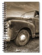 The Workhorse In Sepia - 1953 Chevy Truck Spiral Notebook
