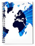 The World Map And Globe Spiral Notebook
