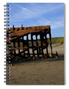 The Wreck Of The Peter Iredale - Oregon Spiral Notebook