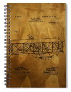 The Wright Brothers Airplane Patent Spiral Notebook