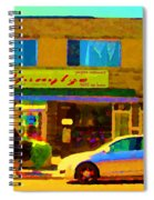 The Yangtze Chinese Food Restaurant On Van Horne Montreal Memories Cafe Street Scene Carole Spandau  Spiral Notebook
