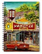 The Yangtze Restaurant On Van Horne Avenue Montreal  Spiral Notebook