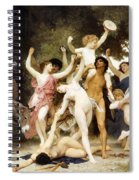The Youth Of Bacchus Detail Spiral Notebook