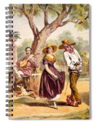 The Zapateado - National Dance, 1840 Spiral Notebook