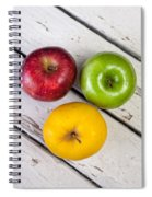 Thee Apples On A Table Spiral Notebook