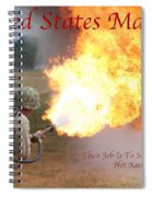 Their Job Is To Save Your Ass Usmc Spiral Notebook