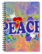 Themes Of The Heart-peace Spiral Notebook