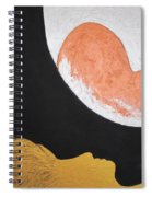 ..then The Moon Come To Kiss Good Bye... Spiral Notebook