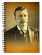 Theodore Teddy Roosevelt Portrait And Signature Spiral Notebook