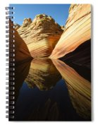 The Wave Reflected Beauty 1 Spiral Notebook