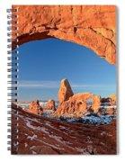 Thick Window Arround Turret Spiral Notebook