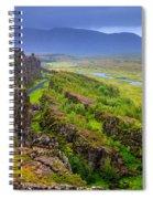 Thingvellir National Park Rift Valley Spiral Notebook