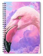 Think Pink Flamingo Spiral Notebook