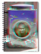 Thinking Inside The Box - Red/cyan Filtered 3d Glasses Required Spiral Notebook