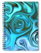 Turquoise  - Satin Swirls Spiral Notebook