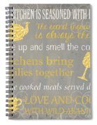 This Kitchen Is Seasoned With Love Spiral Notebook