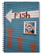 This Way To The Fish Spiral Notebook