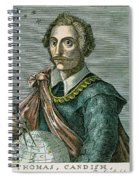 Thomas Cavendish (c1560-1592) Spiral Notebook