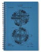 Thomas Edison Blueprint Phonograph Spiral Notebook