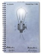 Thomas Edison Electric Lamp Patent Spiral Notebook