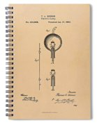 Thomas Edison Patent Application For The Light Bulb Spiral Notebook