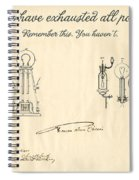 Thomas Edison Quote Spiral Notebook