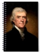 Thomas Jefferson By Rembrandt Peale Spiral Notebook