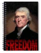 Thomas Jefferson Freedom Spiral Notebook