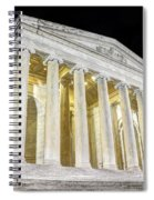 Thomas Jefferson Memorial At Night  Spiral Notebook