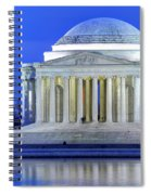 Thomas Jefferson Memorial At Night Reflected In Tidal Basin Spiral Notebook