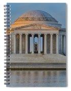 Thomas Jefferson Memorial At Sunrise Spiral Notebook