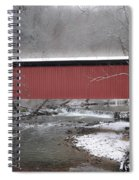 Thomas Mill Covered Bridge Along The Wintery Wissahickon Spiral Notebook