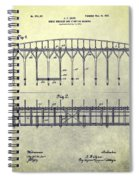 Thoroughbred Race Starting Gate Patent Spiral Notebook