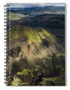 Thorsmork Valley In Iceland Spiral Notebook
