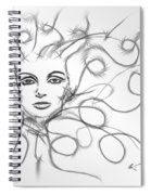Thought Waves Spiral Notebook