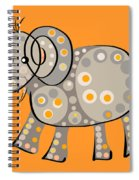 Thoughts And Colors Series Elephant Spiral Notebook