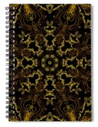 Threads Of Gold And Plaits Of Silver Spiral Notebook