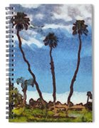 Three Abstract Palm Trees  Spiral Notebook