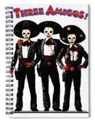 Three Amigos - Day Of The Dead Spiral Notebook