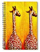 Three Amigos Giraffes Looking Back Spiral Notebook
